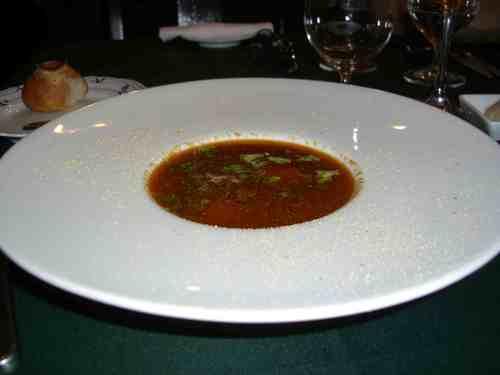 ノヴァスコシア産オマール海老のビスクスープ