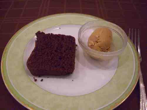 ガトーショコラとキャラメルのアイスクリーム