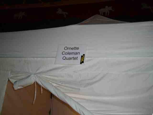 オーネット・コールマン楽屋テント