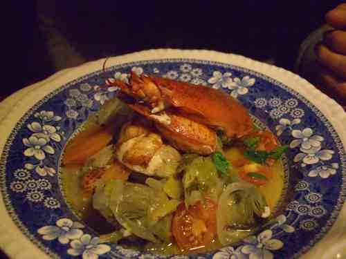 オマール蝦とアンティチョークのスープ